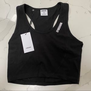 Gymshark Crop Top Black. New with tags. Size M
